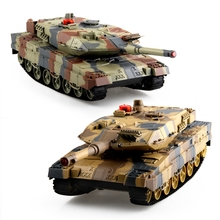 HUANQI 516C RC Tank 2.4G 1:24 Scale Simulation RC Battle Tank 2.4GHz Remote Control Toy RC Crawler Chrismas Gift For boys(China)