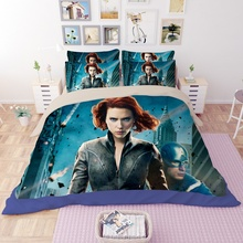 hot sale 3D moive film super star man iron design twin queen king bed sheet set bedclothes duvet cover set bedding set(China)