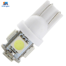 YM E-Bright 500PCS T10 194 168 W5W 12V 5050 5 SMD 5LEDs LED Light Bulb Clearance Light Parking Indicator Reading Lamps White(China)
