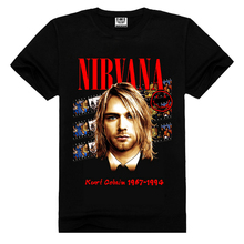 Supreme New Free shipping Fashion short sleeve Heavy Metal black color Modern rock band nirvana t shirts(China)