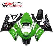 Motorcycle Fairings For Kawasaki ZX6R ZX-6R 636 Year 2003 2004 03 04 Sportbike ABS Fairing Kit Moto Bodywork  Elf Green Black