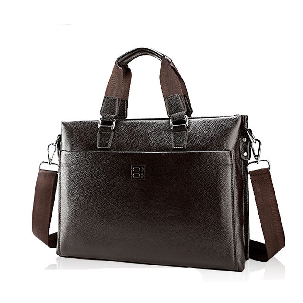 2016 Genuine Leather Business Handbag Designer Durable Top Layer Cowhide Men Shoulder Bag Fashion man Handbags<br><br>Aliexpress