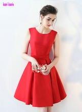 Gorgeous Red vestidos de cóctel 2018 nueva Sexy Scoop cremallera Appliques  rodilla-Lingth Homecoming vestidos de cóctel corto Pr.. 288db363d6f2