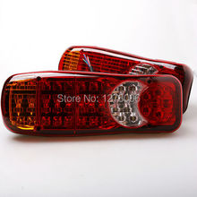 2Pcs 24V Automobiles Car Truck LED Stop Rear Tail Indicator Fog Lights Reverse Van Free Shipping