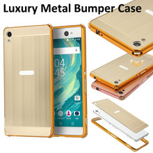 For Sony Xperia XA XA Ultra Case Anti-Knock Metal Aluminum Frame Brushed PC Back Cover For Sony Xperia X Performance X Case