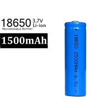 2017 New 10 X 18650 Battery Blue 1500mah 3.7 v Li ion Rechargeable 18650 Lithium-ion Battery(China)