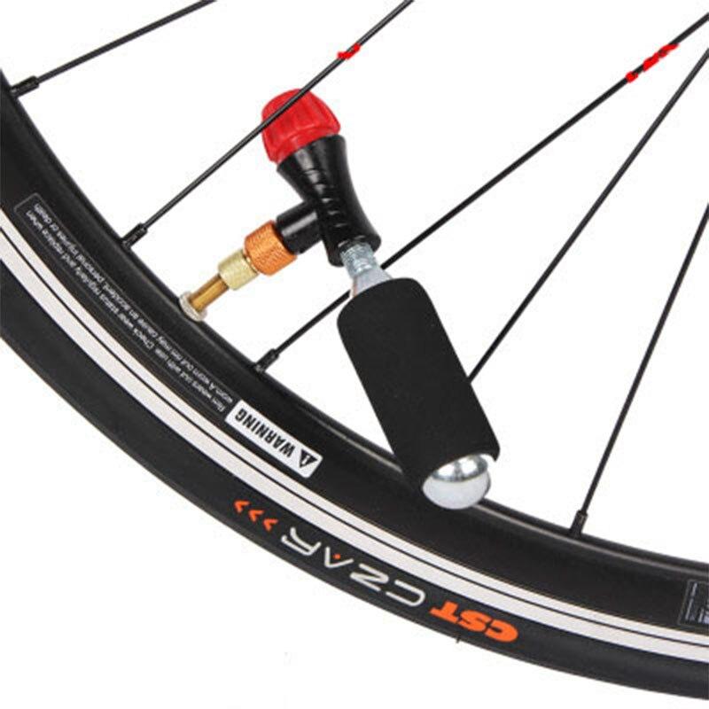1PC Air MTB Road Bike Compatible CO2 Cartridge Tire Inflator Pump Valve Parts