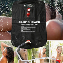Shower Bag Foldable Solar Energy Heated Camp PVC Water Bag Outdoor Camping Travel Hiking Climbing BBQ Picnic Water Storage 20L(China)