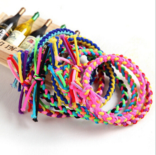 1lot=5pcs Winter Korea Elastics Hair Accessories Children scrunchy Random Sent Colorful Pets DIY Useful Baby Hair Band(China)