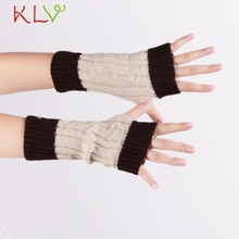 Winter 2016 Beige Knitted Fringe Warm Lovers Gloves lady women Arm Warmer Cold weather necessities