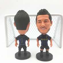 Soccerwe Soccer Star Doll Inter 9 Icardi Figure Blue Black for Gift Collections 2017 Season(China)