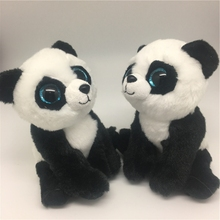 Ty Beanie Boos Original Big Eyes Plush Animal Panda & Dolphin & Husky & Poodle Toys best gifts for baby Toys
