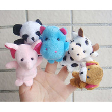 10pcs Animal Cartoon Finger Puppet Plush Child Baby Toys Hand Puppet Tell Story Props Children Favor Dolls Kids Toys Kids Gift(China)