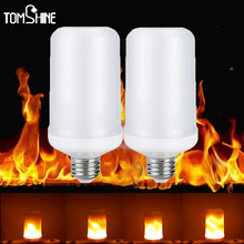 Buy 2017 New LED lamp Flame Effect Fire Light Bulbs E27 E26 2835SMD 5W Flickering Emulation flame Lights bulb 2200K Decoration lamps for $9.16 in AliExpress store