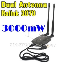 2015 Newest USB 2.0 Wireless BT-N9100 Beini free internet 3000mW High Power Dual OMNI Antenna Wifi Adapter Ralink 3070