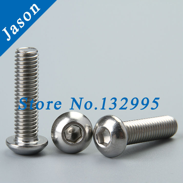 2#-56,4#-40,6#-32,8#-32,10#-24,10#-32,1/4-20*L  Stainless Steel A2 Hex socket button head cap screw ANSIB18.6.3BT<br><br>Aliexpress