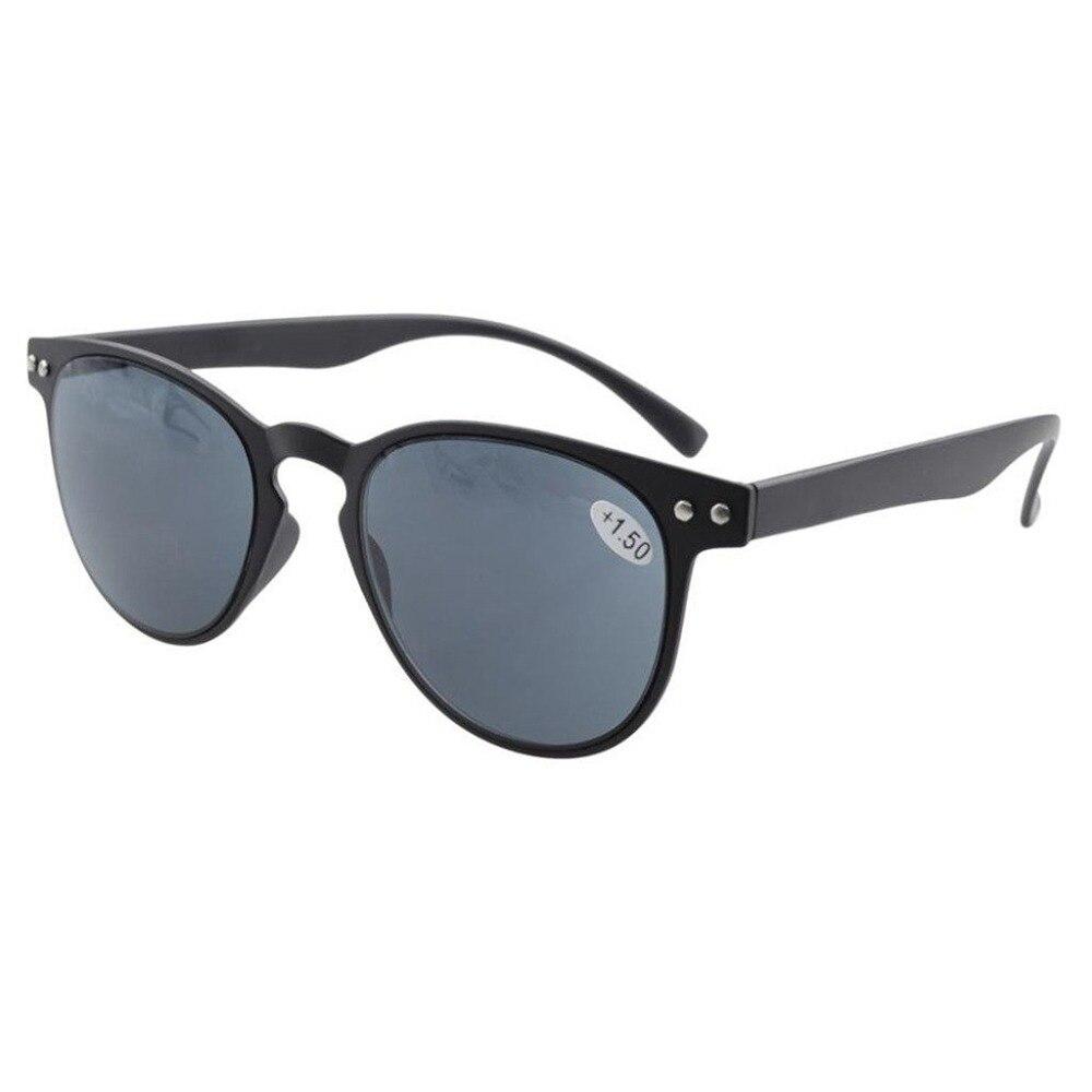 b757624e65a R060 Eyekepper Gray Lens Round Full Coverage Ultrathin Flex Frame Reading Glasses  Sun Readers +0.50
