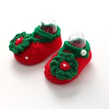Baby Girls Crochet Handmade Knit Shoes Cute Girls baby Shoes children footwear shoe baby girl