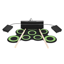 Portable Electric Drum Digital Mono Electronic Drum Set 7 Silicon Pads Built-in Speaker USB Powered with Drumsticks Foot Pedals(China)