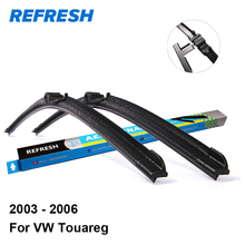 "REFRESH Wiper Blades for Volkswagen VW Touareg 26""&26"" Fit Side Pin Arms 2003 2004 2005 2006(China)"