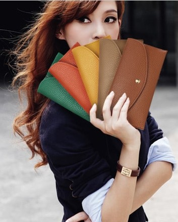 Ultra Thin  New 2015 Women Wallets High Quality Candy Color PU Leather Long Design Women Clutch Wallet Purse Handbag Card Bag<br><br>Aliexpress