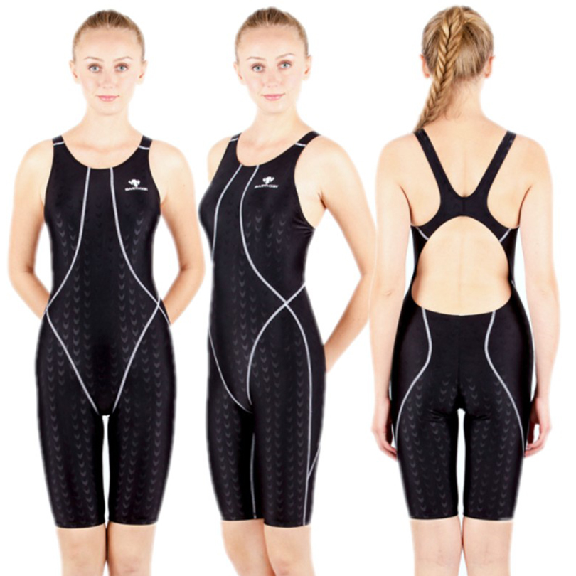 HXBY Professional Women One Piece Swimming Suit Quick Dry Polyester Training Swimsuit One Piece Women Swimming Wear Female<br>