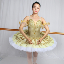 Newest girl costumes skit dress child adult professol  kids professional ballet tutus platter  classical adulto yellow tutu