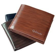 2016 GUBINTU Men Design Short Small Wallets Male Mens PU Leather Brown With Coin Pocket Card Holder Wallet Purse Carteras