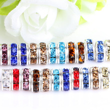 DIY handmade accessories bracelet accessories diamond septa button accessories A drill wheels 6-12mm(China)