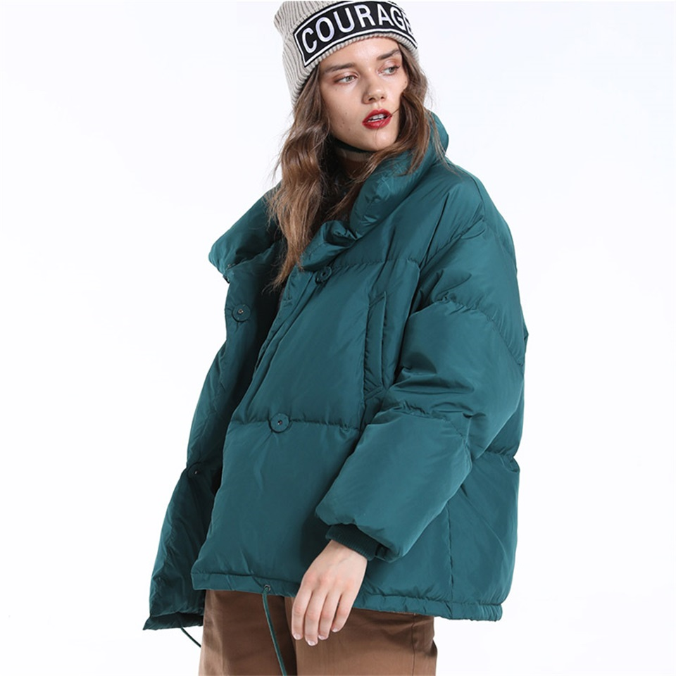 Autumn Winter Jacket Women Parkas Mujer 19 Fashion Coat Loose Stand Collar Jacket Women Parka Warm Casual Plus Size Overcoat 10