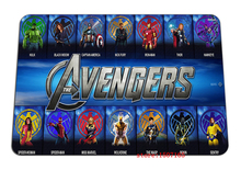 9 size cool The Avengers mouse pad Wholesale large pad to mouse computer movie mousepad gaming mouse mats to mouse gamer(China)