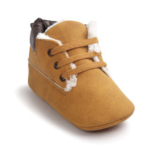 WONBO New Casual Winter Classic Baby Children Keep Warm First Walkers Shoes Crib Babe Sneakers Soft Soled High Top Boots(China)