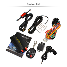 TK103B Vehicle Free shipping Car GPS Tracker 103B with Remote Control GSM Alarm SD Card Slot Car Alarm System GPS Monitor(China)