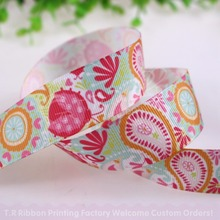 "10yards/lot  22mm 7/8"" Paisley grosgrain ribbon, heat transfer polyester ribbon, retail pack"