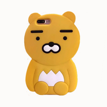 2017 Fashion 3D korea forest animal cartoon monsters pink peach big bear doll soft silicone cell phones case For Iphone