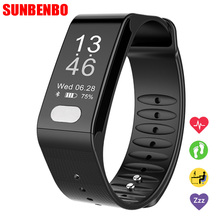 Buy New T6 Smart Band Heart Rate Monitor ECG Blood Pressure Fitness Bracelet Waterproof Pedometer Wrist Smartband Android IOS for $31.37 in AliExpress store