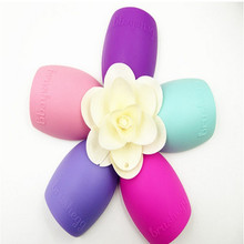 8 Colors Makeup Brush Cleaner Finger Silicone Glove Cosmetic Cleaning Tool Washing Brush Gel Cleaner Brushegg