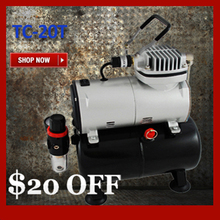 Mini Portable Air Compressor TC-20T with Air Tank Body Painting Temporary Tattoo(China)