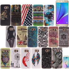 For SAMSUNG GALAXY S3 S4 S5 S6 S7 Edge Plus Mini Note 3 4 5 7 Note7 pu leather phone case soft Gel TPU+IMD Painted Crystal cover