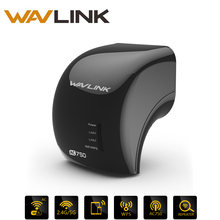 Wavlink Wifi Repeater AC750 Dual Band 2.4GHz 300Mbps +5GHz 433MbpS Compact Repeater Access Point Router with 2 x Ethernet Ports(China)
