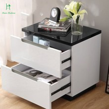 Simple modern white bedroom bedside bedside cabinet fashion plate furniture store