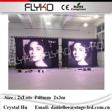 Excellent-performance indoor usage china sexy video P40mm 2x6m led curtain excellent quality velvet cloth led video wall(China)