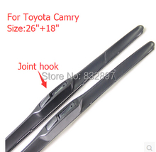 "26""+18"" car wiper blade for Camry 2012 ,2013 Soft Rubber WindShield Wiper blade wiper arm Free shipping(China)"