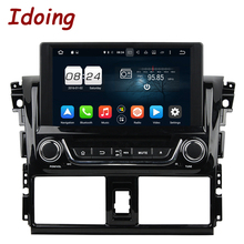 Idoing 2Din Steering Wheel For Toyota Yaris Android6.0 2G+32G CAR DVD Player GPS Navigation Bluetooth Radio TV iPod 3G/Wifi USB