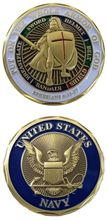 NEW U.S. Navy - Put On the Whole Armor of God Challenge Coin,Free Shipping