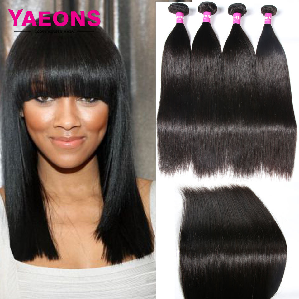 Malaysian Virgin Hair Straight Weave Remy Human Hair Style 4 Bundles Deals 7A Unprocessed Virgin Hair Weave Bundles<br><br>Aliexpress