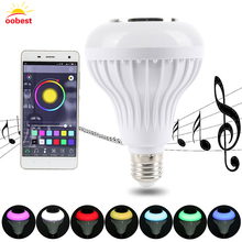 Speaker bluetooth E27 LED RGB Light Music Bulb Lamp Color Changing via WiFi App Control mp3 player wireless bluetooth speaker