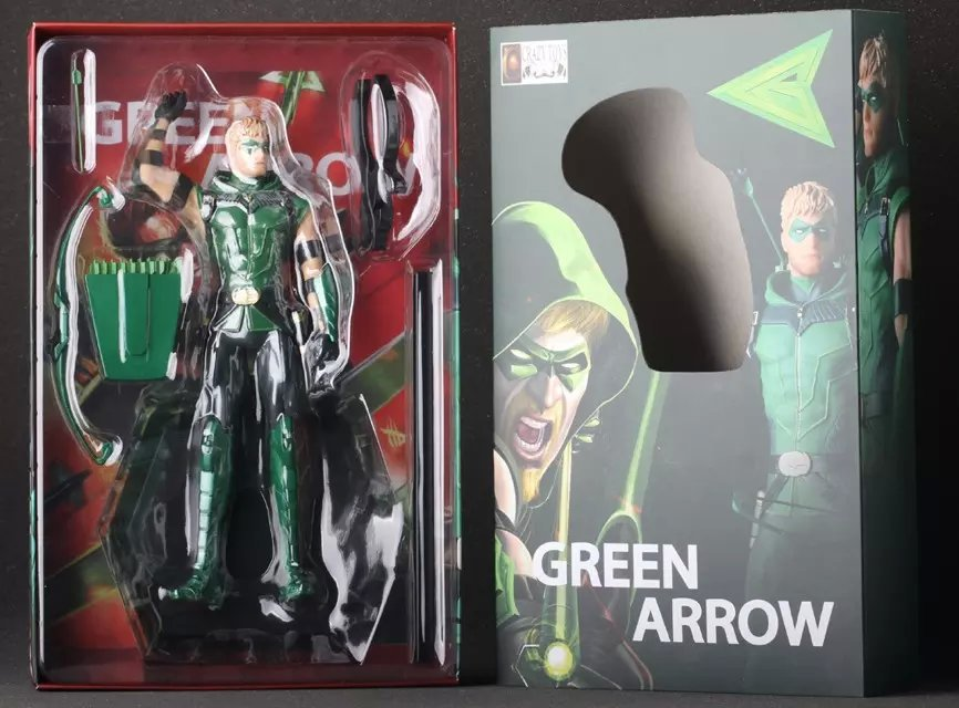 New Hot Figurine DC Comic Justice League Super Hero Green Arrow Oliver Queen Crazy Toys Action Figure<br>
