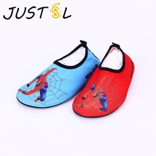JUSTSL Boys soft shoes children cartoon printing water skiing shoes kids casual shoes barefoot skin soft shoes