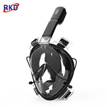 RKD Underwater Diving Masks Scuba Dive Anti Fog Detachable Dry Snorkel Set Full Face Snorkeling Easybreath Swimming Mask Diving(China)